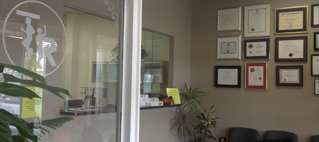 Total Rehab's reception area